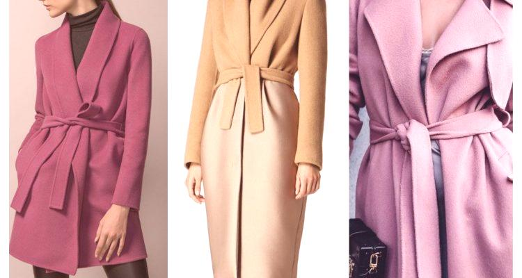 différents types de matériaux de qualité supérieure Comme c'est beau d'attacher une ceinture à un manteau ...