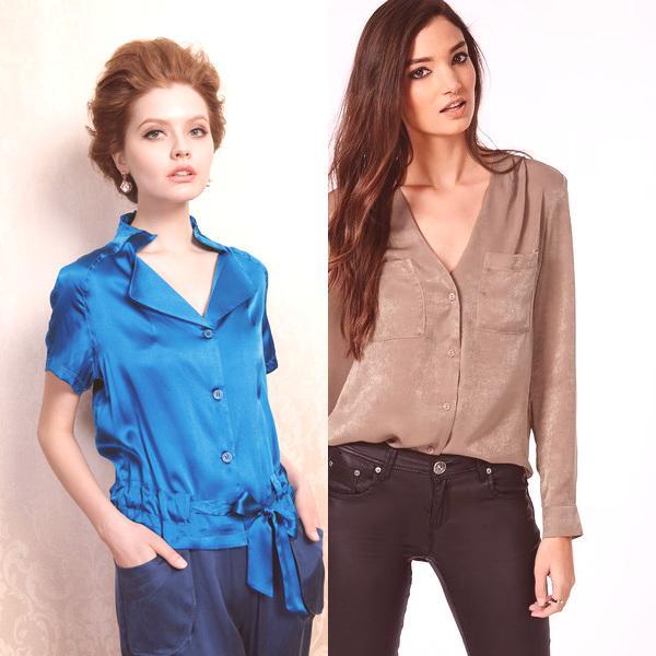 63a58ad88 Blusas de seda para 2019: la foto es con estilo y modelos de moda ...