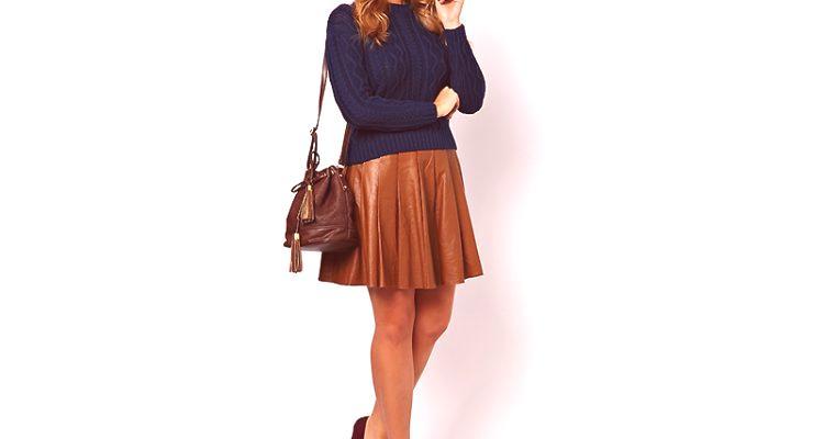 7c3f83d8783b Kožená sukňa je dnes považovaná za najmodernejší prvok dámskeho šatníka
