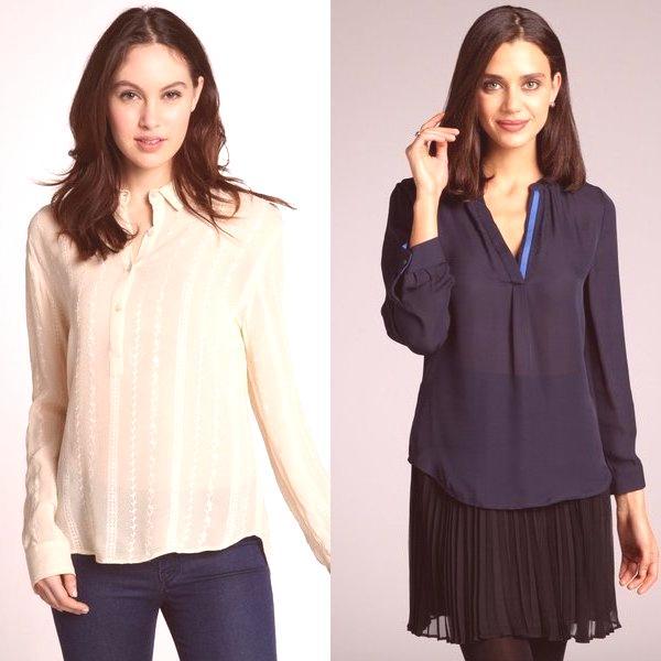 8f025dfee Mira las hermosas blusas de las mujeres en la foto, que ilustran todas las  direcciones de estilo del corte: