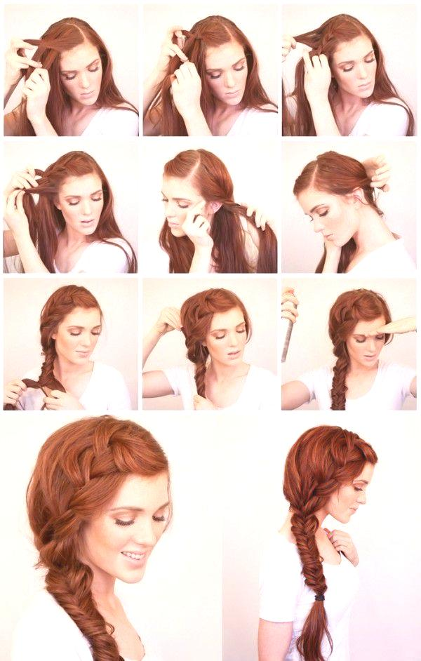 Fryzury Z Warkoczami Zdjęcie Na Długie średnie Włosy