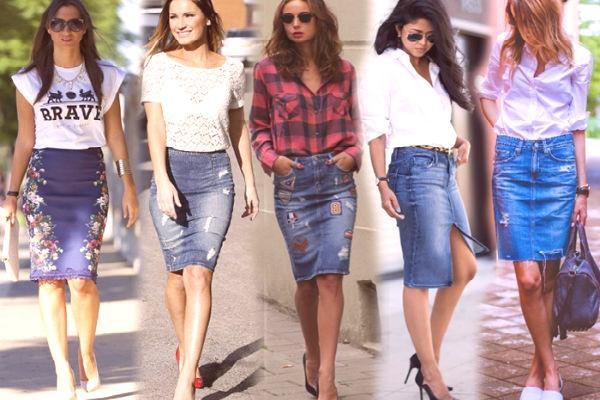 34a2b85c5004 Džínsové sukne 2019  módne trendy
