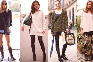 Comment porter un pull volumineux: options de mode, photo