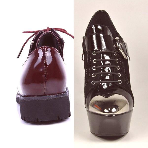 909252c8648c Dámske topánky na lak pre 2019  na fotografii modelu na šnurovanie a ...