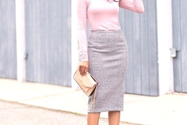 1fae3de3 Dzianinowa spódnica: co nosić, łączyć, zdjęcia modnych zdjęć