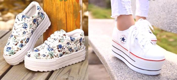 dc3559bd1edbd Mnoho dievčat venuje pozornosť tomuto modelu. Obchody sú obrovské, v  rôznych farbách. Môže to byť jednofarebné tenisky a svetlé. Predstavuje  modely obuvi s ...