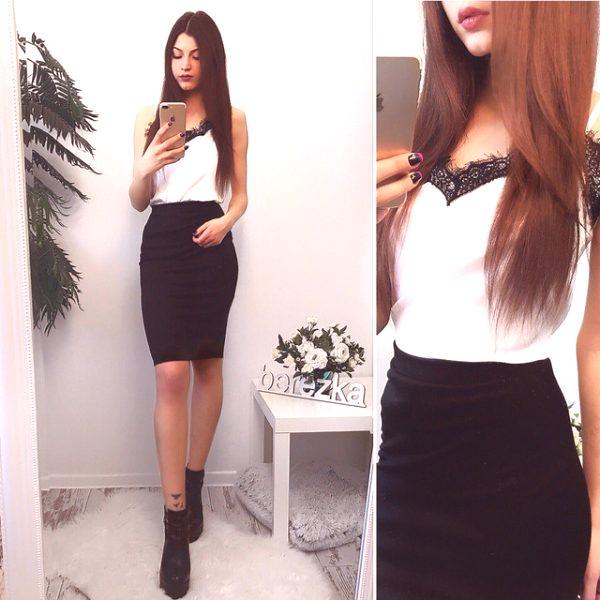 5736769f3 Falda negra: qué ponerse, combinar, imágenes de moda, foto.