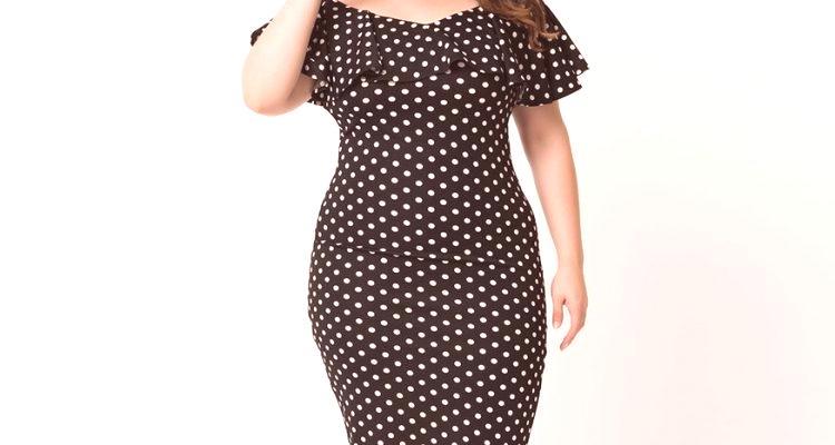 5fe408f38 Vestidos a lunares para mujeres obesas: fotos de modelos de moda ...