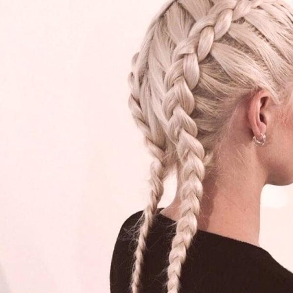 Frizure S Pletenicama Fotografija Za Dugu Srednju Kosu