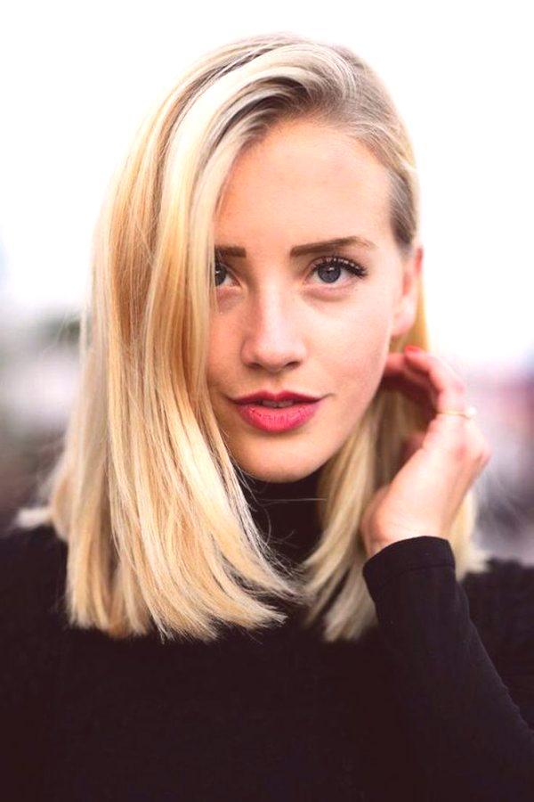 Fryzury Dla średnio Prostych Włosów Zdjęcie