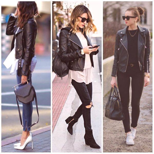 8461b8645d64 Čierna kožená bunda je vždy vyhľadávaným trendom