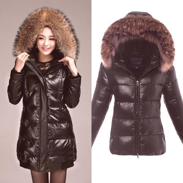 0a1a630afe87 Najmodernejšie modely dámskych kožených čalúnených kabátov s kožušinou sú  krátke
