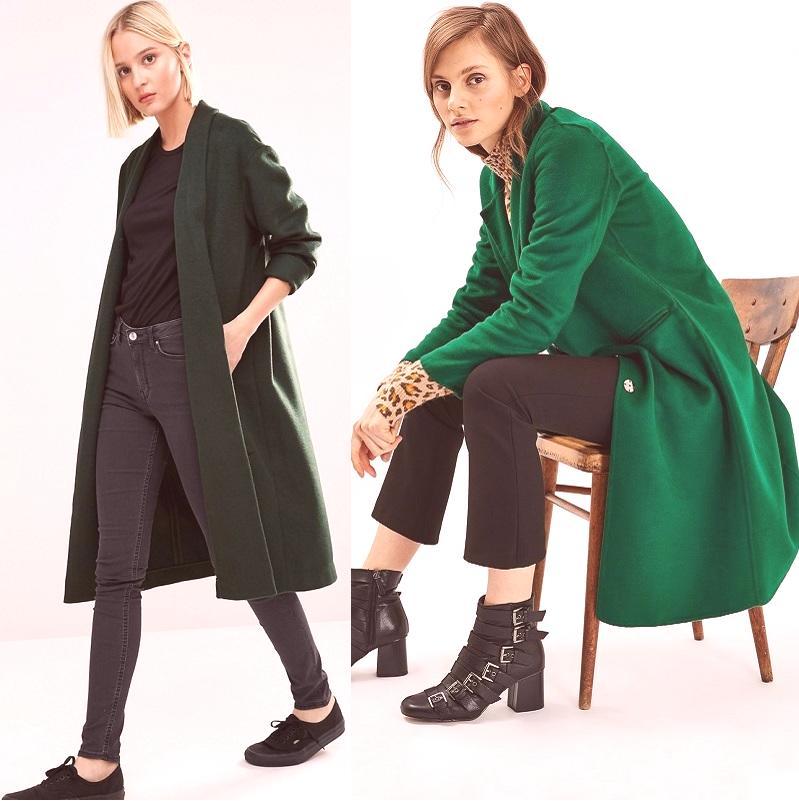 d85b46e2b0 Zelená dámska kabát pre rok 2019  100 fotografií módnych modelov
