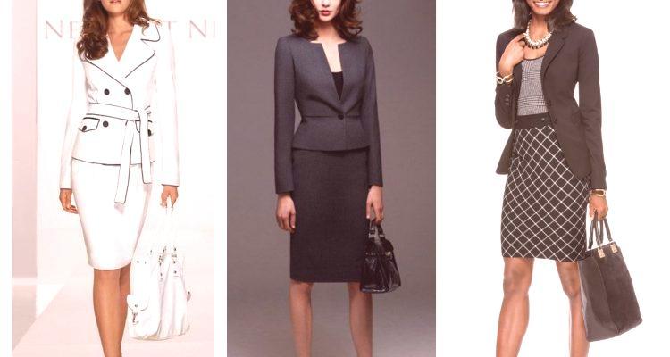 8f52577adf Garnitury damskie ze spódnicą są wygodnym i harmonijnym zestawem pełnego  stroju. Wystarczy zmienić tylko bluzki