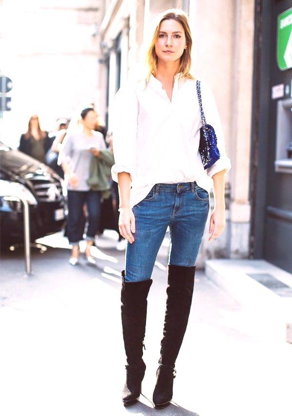 481eaaf1bb La camisa blanca se ve hermosa en combinación con el guipur. Los detalles  de guipur de un corte