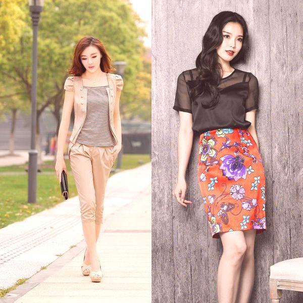 aa8c1322904a Teraz sa pozrite na fotografiu modelov letných oblekov so sukňami a  nohavicami pre rok 2019