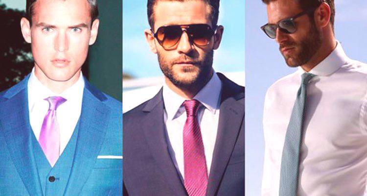 c668e5c475 Jak wybrać krawat do garnituru i koszuli  stół