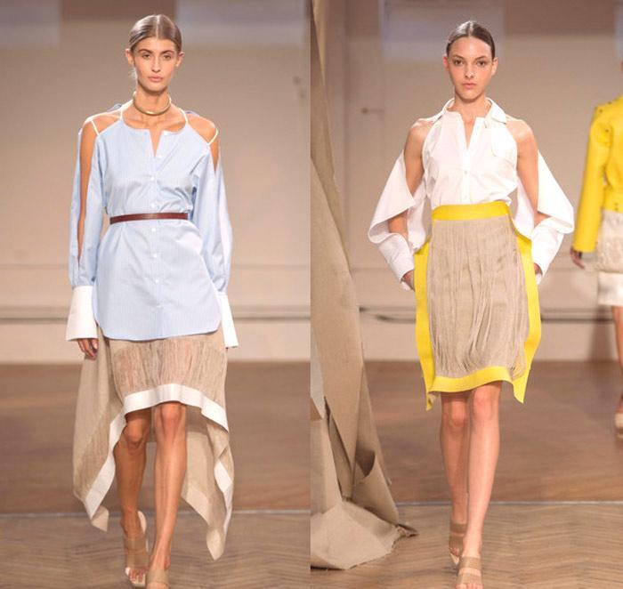 9d80cac51 Medzi módnymi modelmi v tejto sezóne roku 2019 boli stratené nielen krátke,  ale aj dlhé dámske košele. Stylisti odporúčajú nosiť ich s tenkým pásom, ...