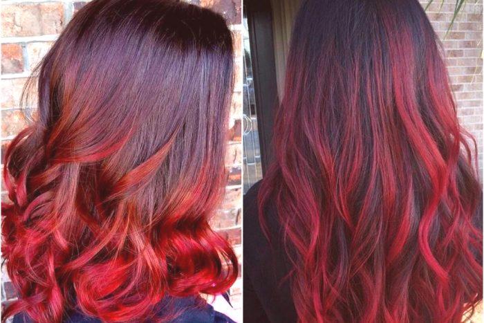 czerwony kolor włosów