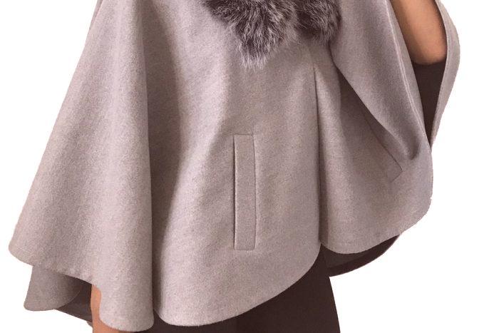 954a5a0d0fe Дамско зимно палто с кожена яка: снимки