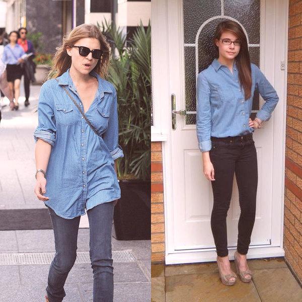 b60042b95c71 Qué puedo usar con una camisa de mezclilla y un vestido de camisa de ...